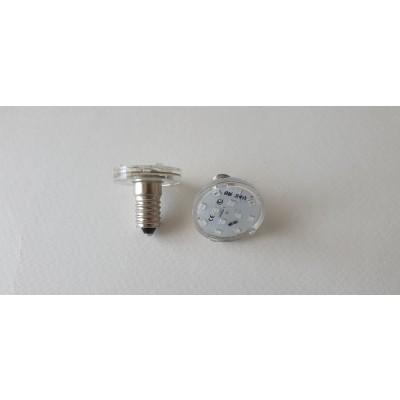 LAMPADA LED E14 15 LED 24V VERDE SIGILLATO