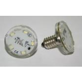 LAMPADA LED E10 5+3 LED  24V 1W  BLU, STAGNO