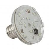 E14 LED LAMP 11 LEDS 60V BLUE, WATERPROOF